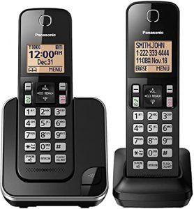 Panasonic Expandable Cordless Phone System with Amber Backlit Display